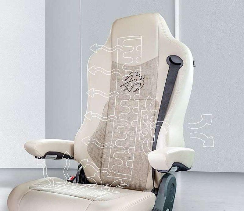 Pilotní sedadlo Knaus