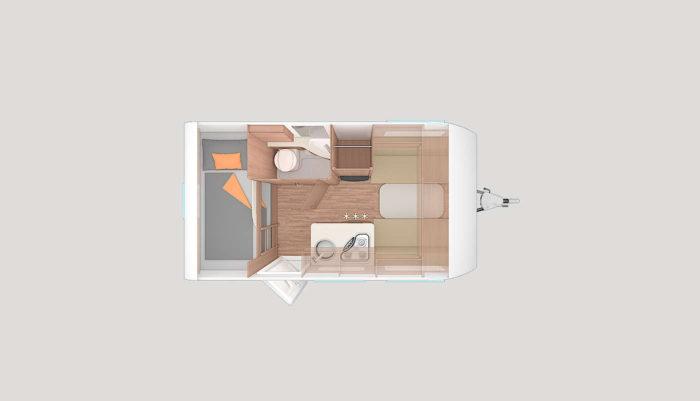 Půdoprys karavan Weinsberg CaraOne 400 LK