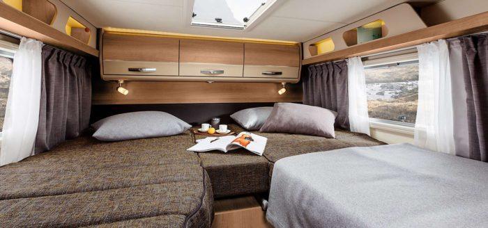 Skládací postel v obytném autě Knaus Van I 650 MEG Platinum Selection