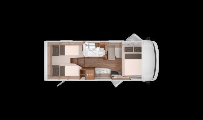 Půdorys Knaus Van I 650 MEG Platinum Selection